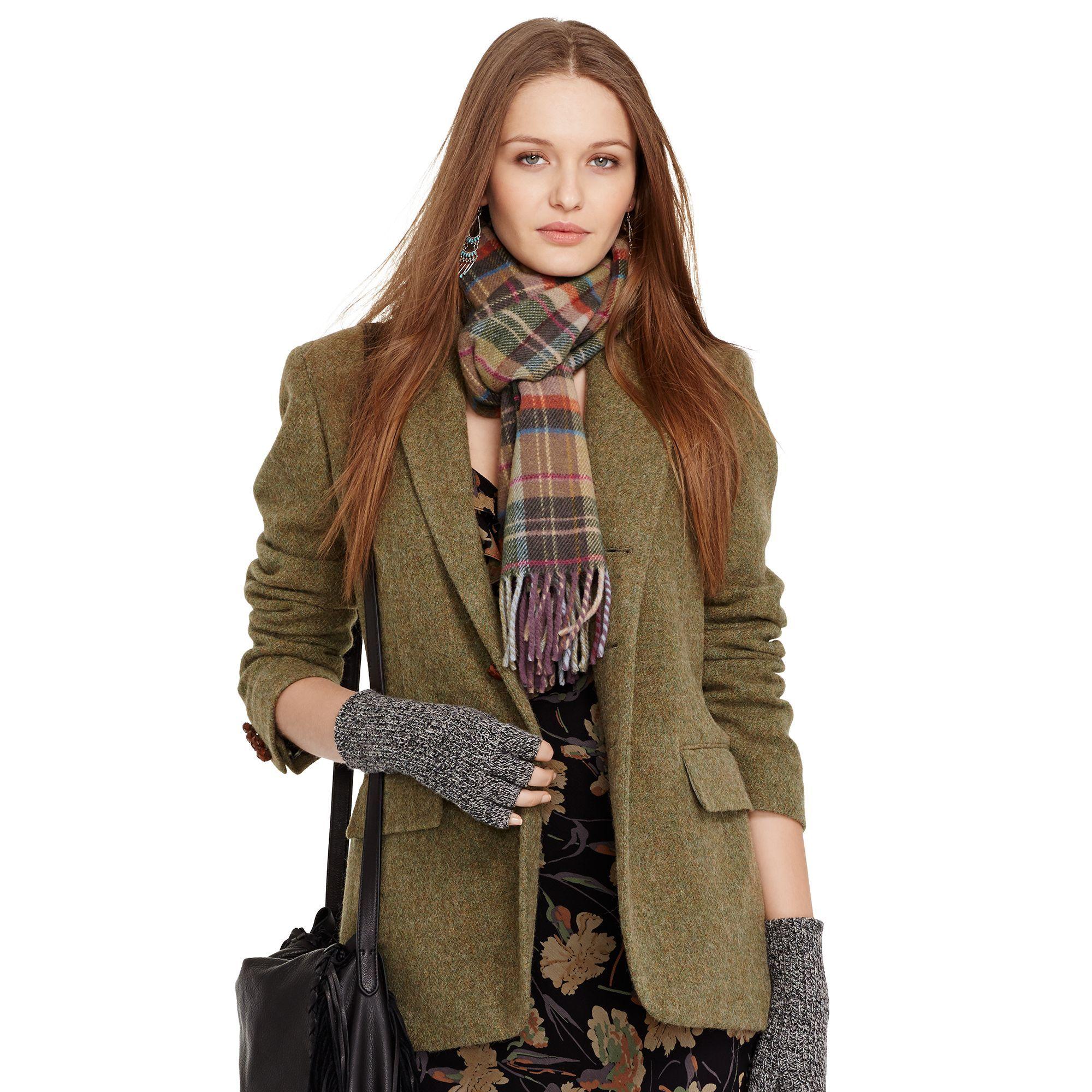 Wool-Alpaca Boyfriend Jacket - Jackets Women - RalphLauren.com