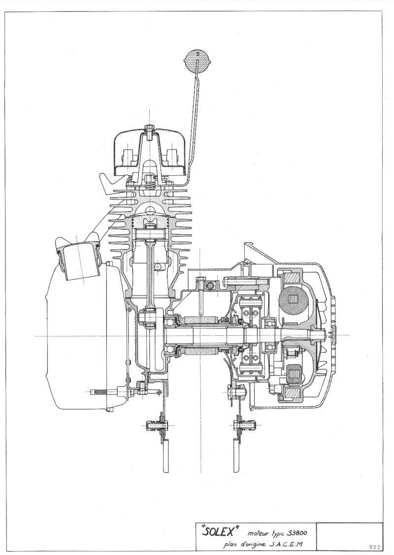 schema moteur solex 2200