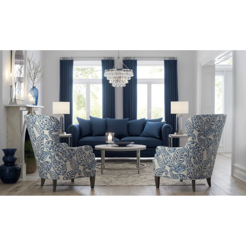 Brielle Nailhead Wingback Chair In 2019 Living Room Sofa