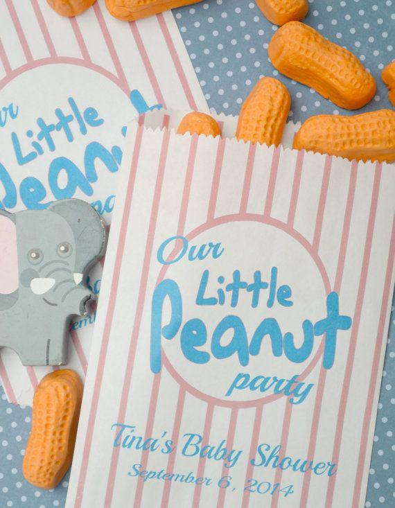 Peanut Baby Shower Favor Bags 20 Personalized Little Peanut Favor