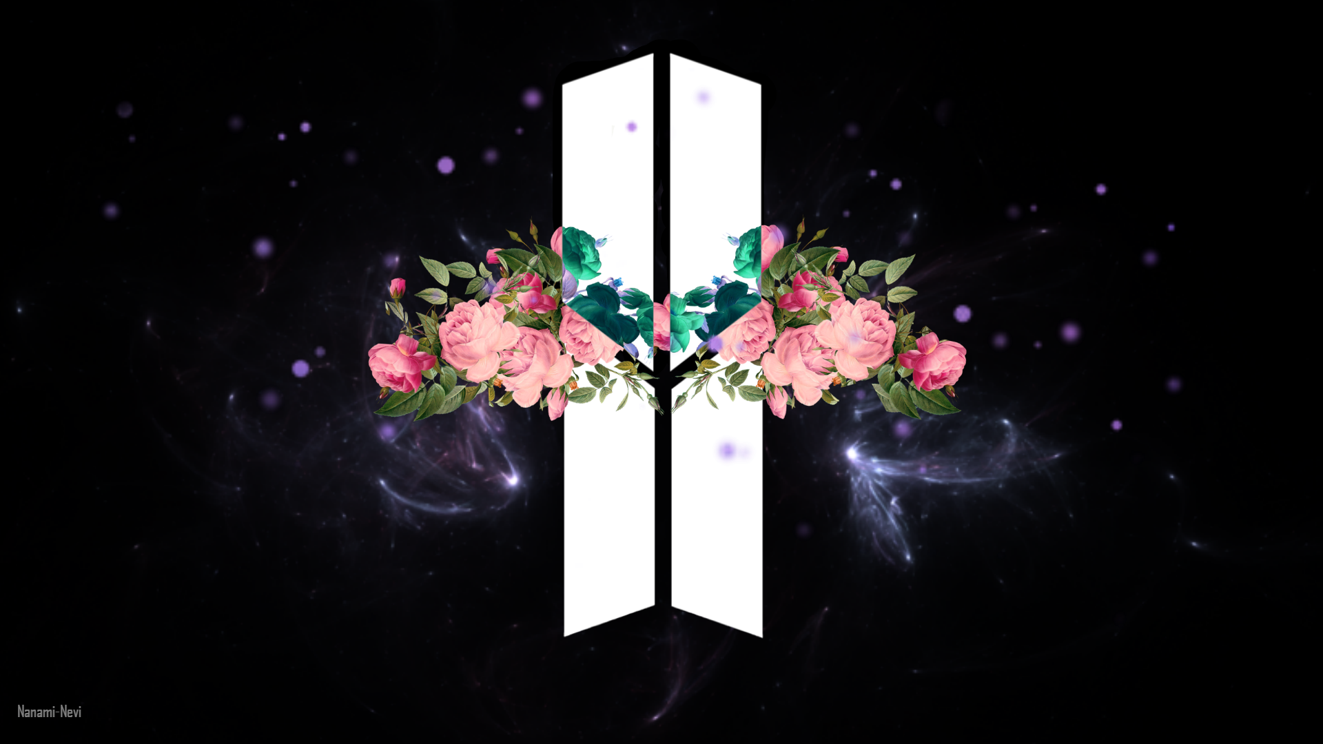 My Creation For New Bts Logo Wallpaper Pc 1920x1080 Wallpaper
