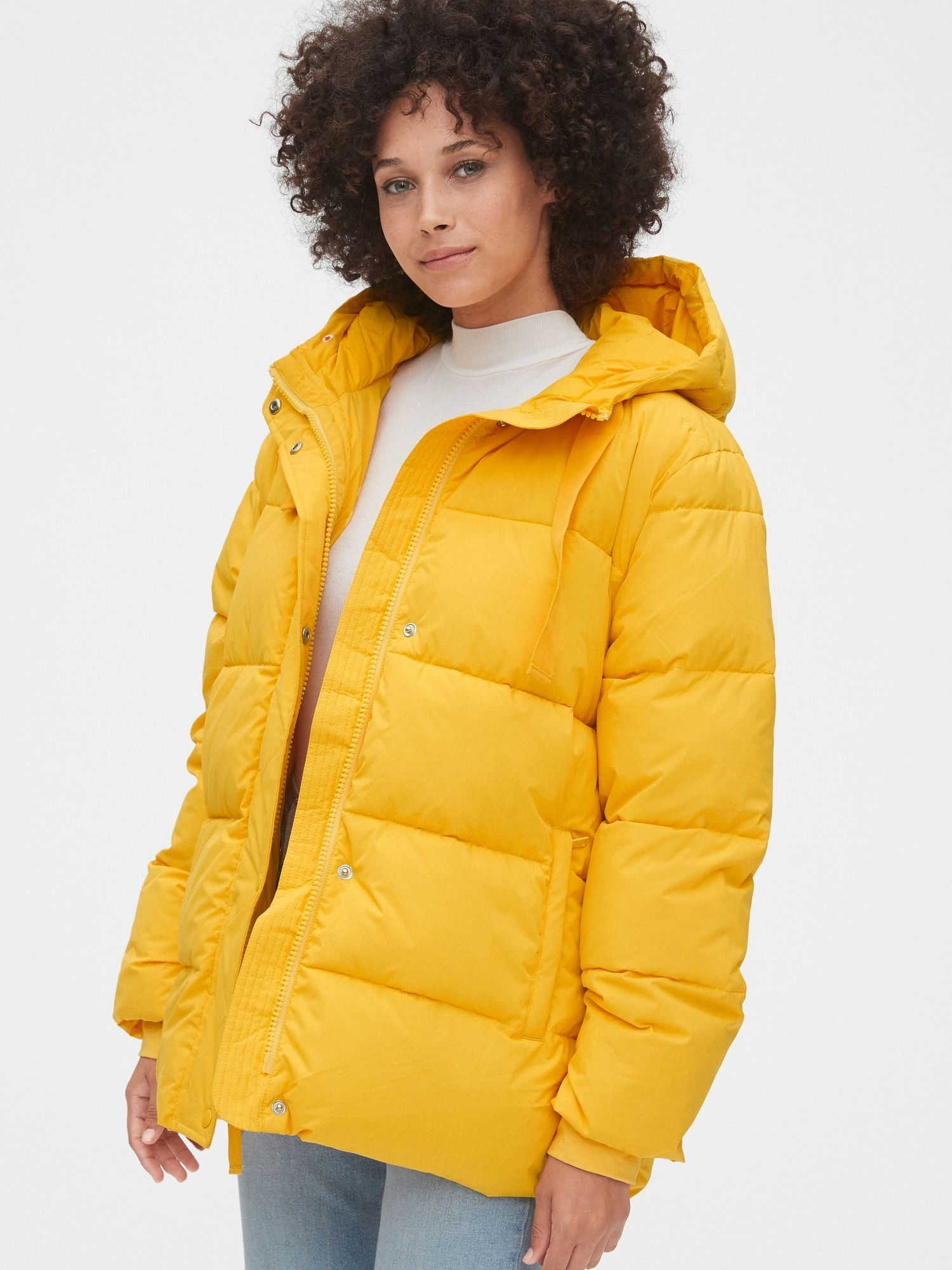 The Upcycled Puffer Gap Yellow Puffer Jacket Coats Jackets Women Puffer Jacket Women [ 2000 x 1500 Pixel ]