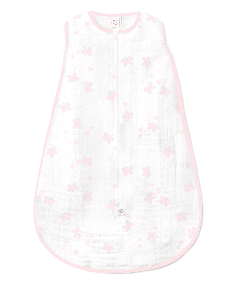 Pink & White Butterfly Sleeping Sack