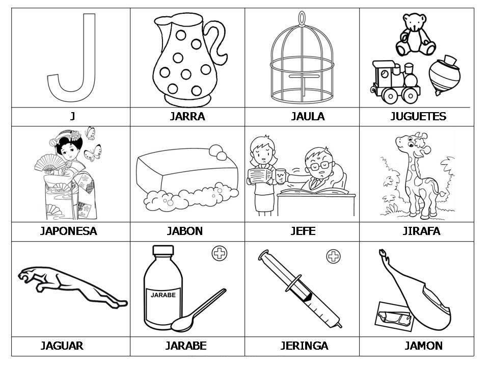 Vocabulario Con Imagenes Para Ninos Actividades De Letras Abecedario Letras Del Abecedario