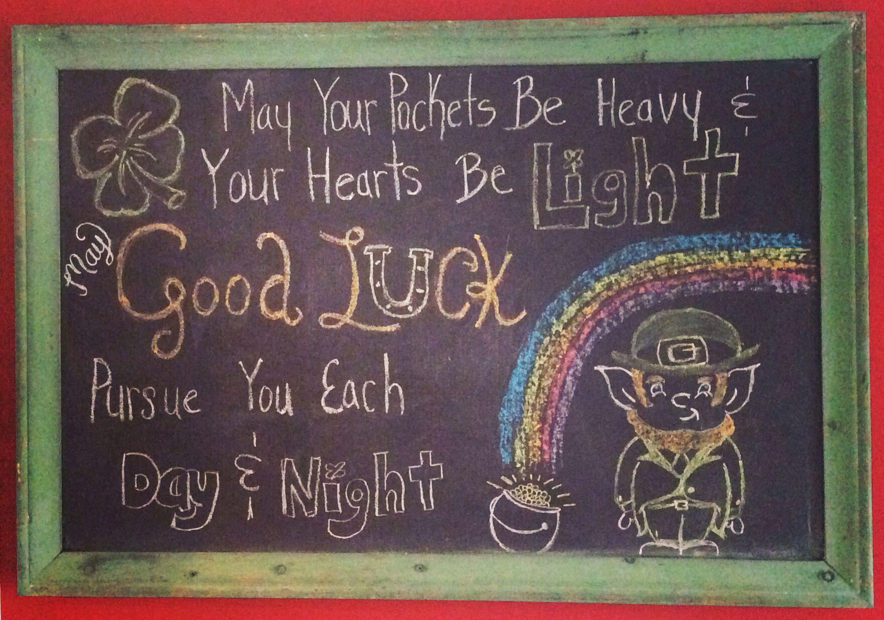 My St. Patricks Day chalkboard, march | My chalkboard fun ...