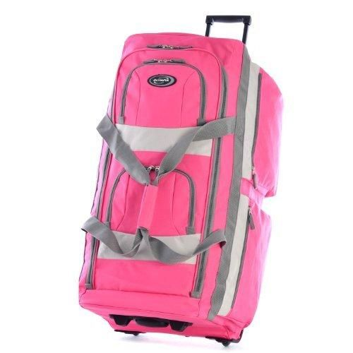 Olympia 33 Inch 8 Pocket Rolling Duffel Hot Pink One Size