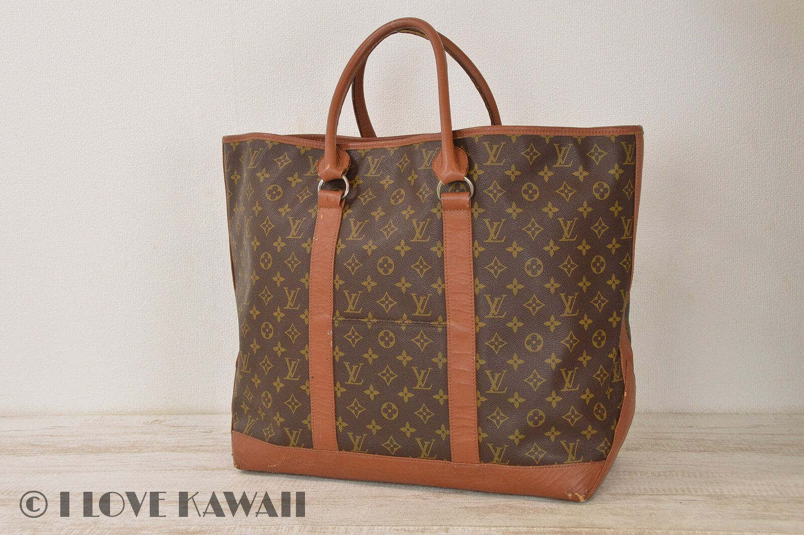 Louis Vuitton Monogram Weekend GM Tote Hand Bag M42420