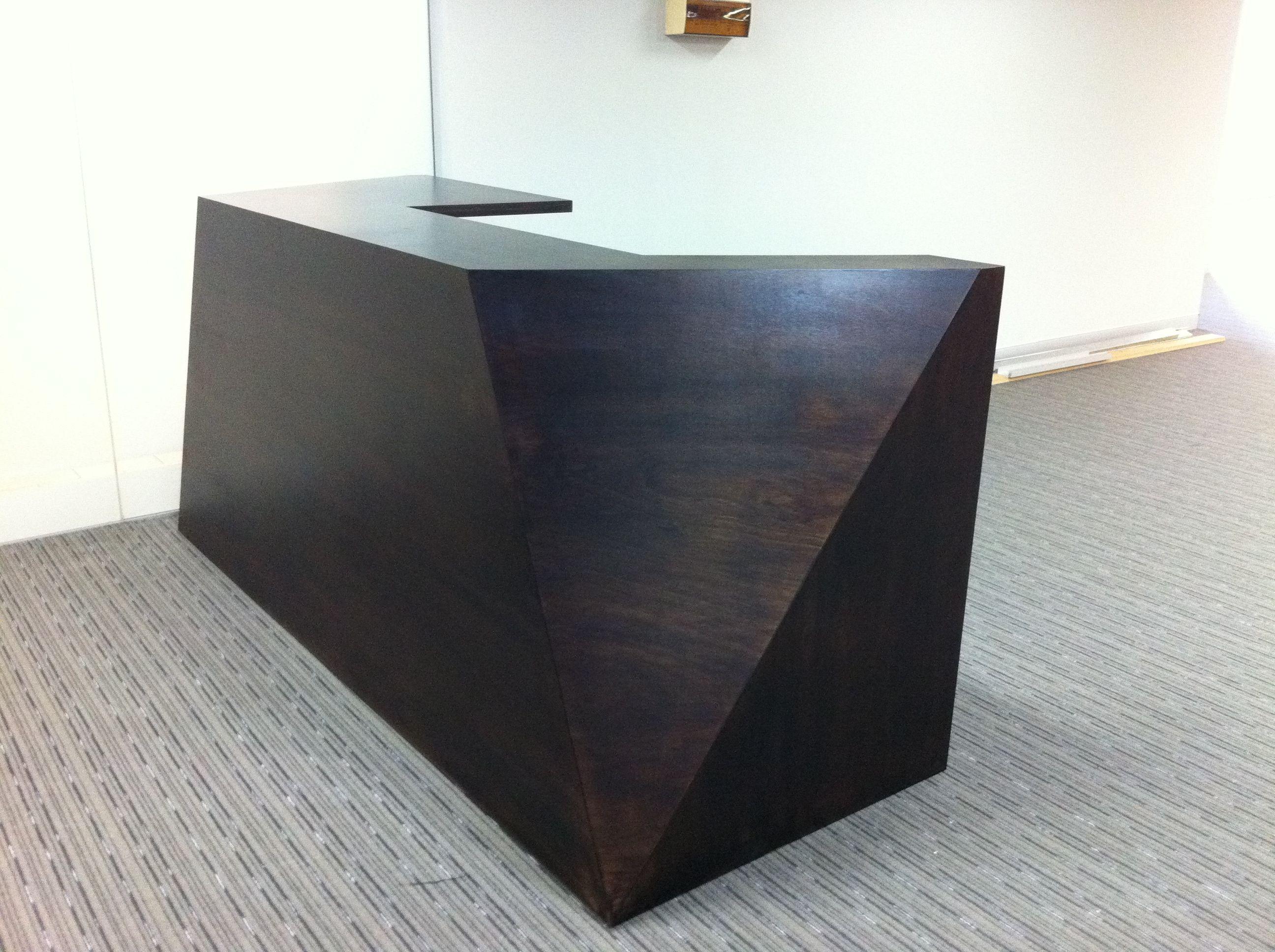Home gt reception desks gt 12 curved walnut glass top reception desk - Angular Reception Desk