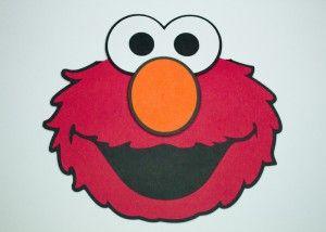 Handmade Elmo Invitation Svg Cutout Sesame Street Character Kids Birthday Party