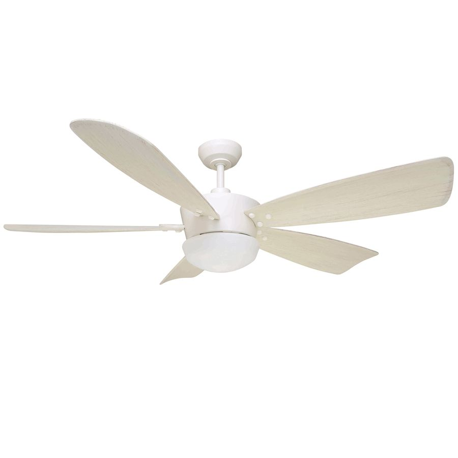 Harbor Breeze Saratoga 60 In White Indoor Ceiling Fan With Light