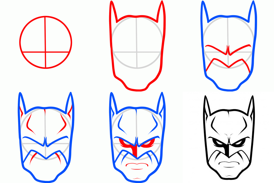How To Draw Batman Characters Art Tutorials In 2019 Pinterest