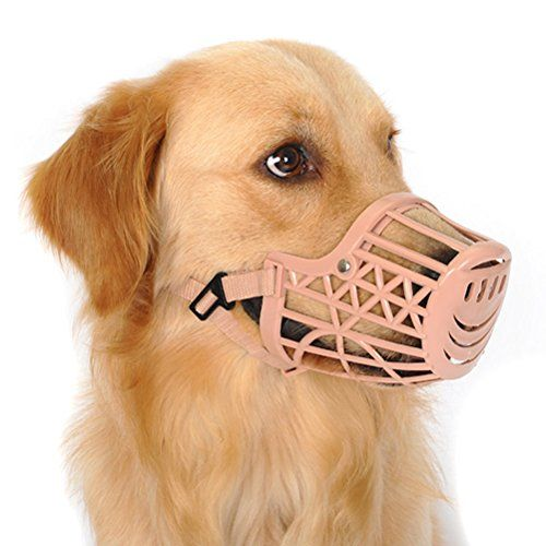 Freerun Pet Dogs Muzzle Adjustable Quick Fit Plastic Muzzle Basket Cage Dog Muzzle Color Beige Size M Be Sure To Check Out This A Dog Muzzle Pets Dog Store