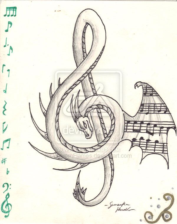Dragon Treble Clef #trebleclef