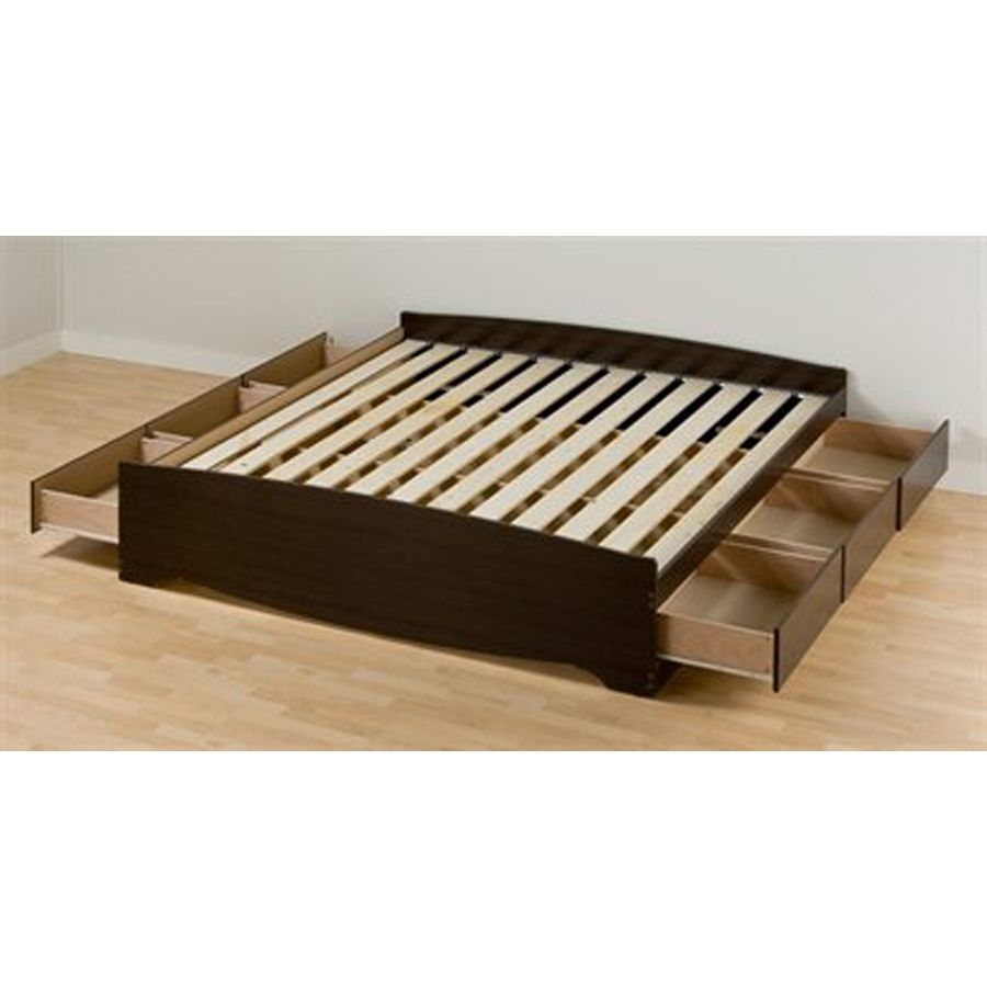Mate S Espresso King Platform Bed With Storage Bed Storage