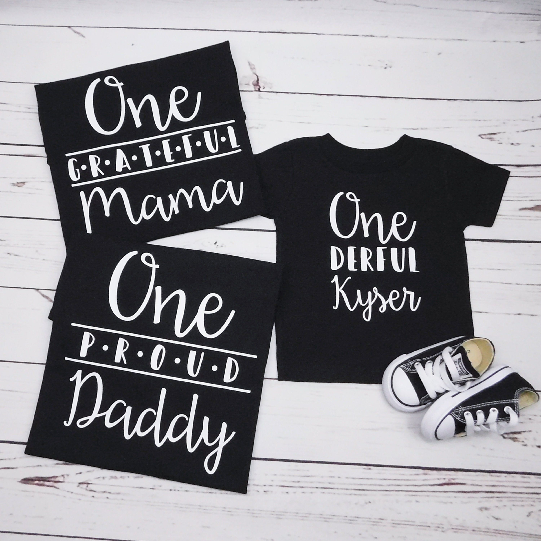 Family shirts for baby boy 1st birthday custom matching