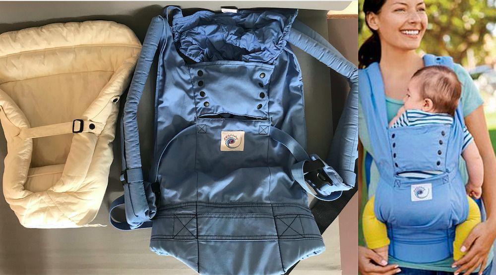115 Used Once Ergobaby Sport Ergo Baby Infant Insert Front Back Babywearing Ergobaby Baby Wearing Baby Wrap Carrier Ergobaby
