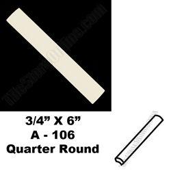 Daltile 0135 Almond 3/4X6 Quarter Round Bead A106