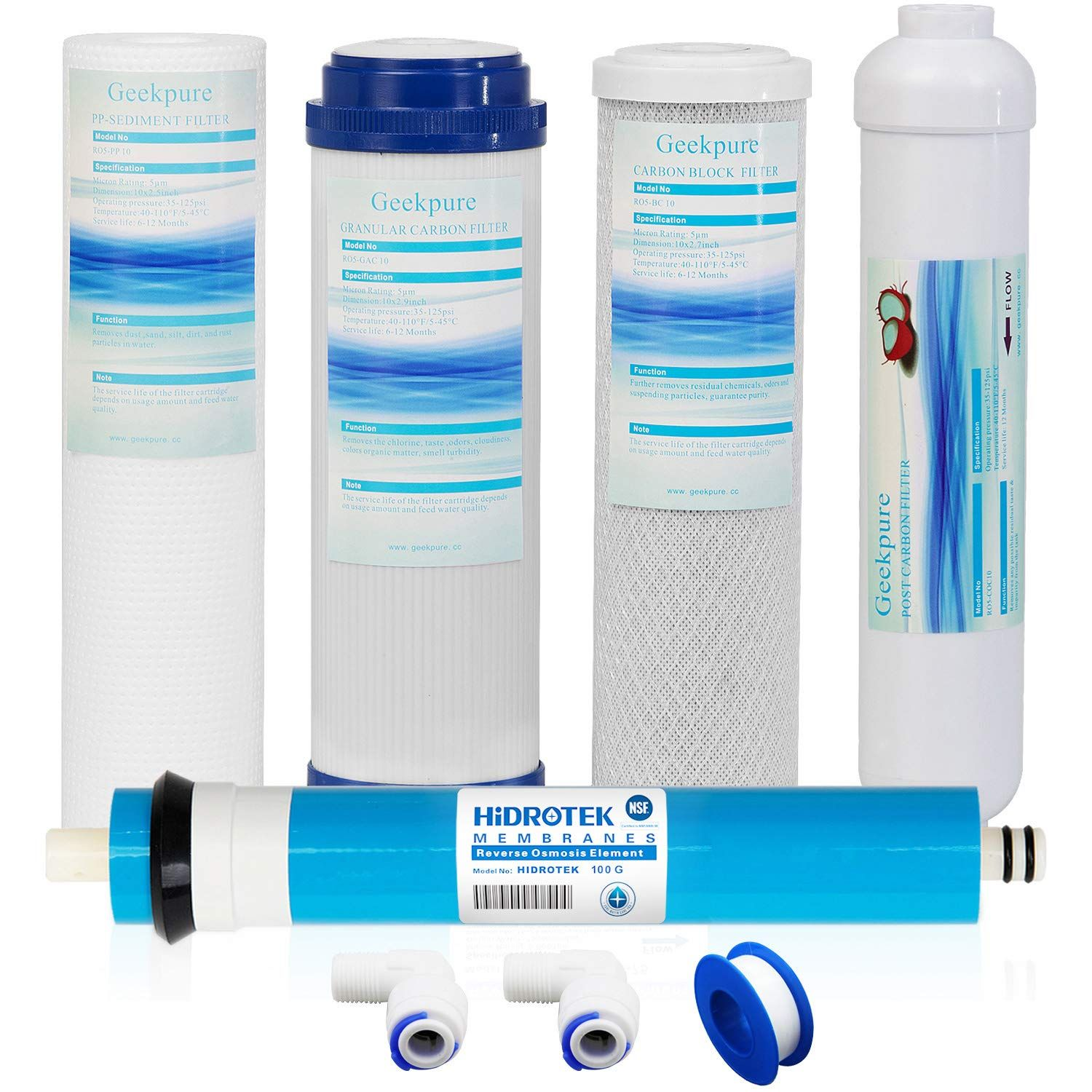 Universal Compatible 5 Stage Rev Reverse Osmosis Reverse Osmosis Filter Ro Membrane