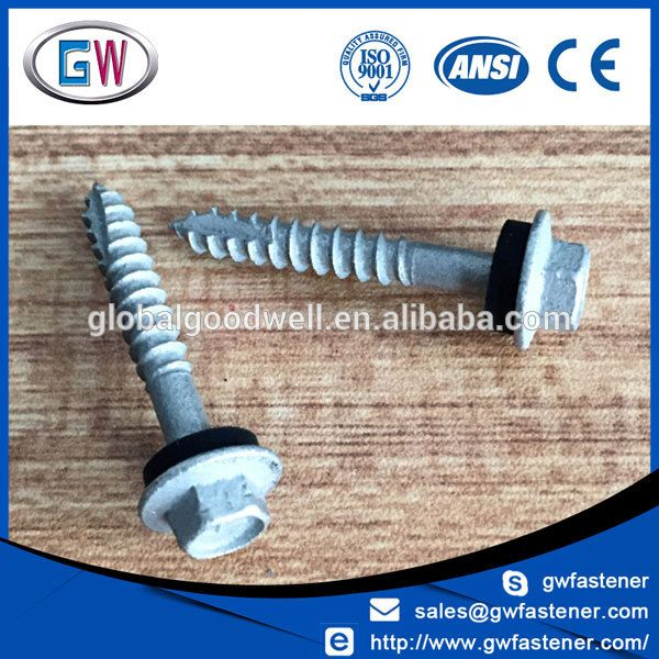 Galvanised Type 17 Tek Roofing Screw With Sealing Washer Roofing Screws Roofing Galvanized