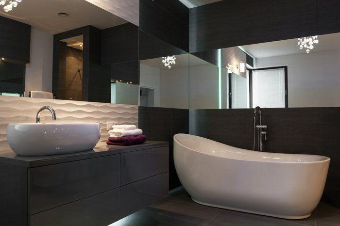 Trends Badezimmer ~ Integrierte beleuchtung glänzende badezimmer fliesen badfliesen