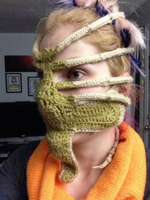 Xenomorph Alien Face Hugger Ski Mask Etsy Crochet And Amigurumi