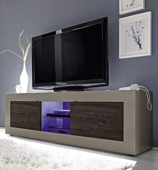 Mobile Porta Tv Wenge.Mobile Porta Tv Finitura Tortora Opaco Con Frontali In