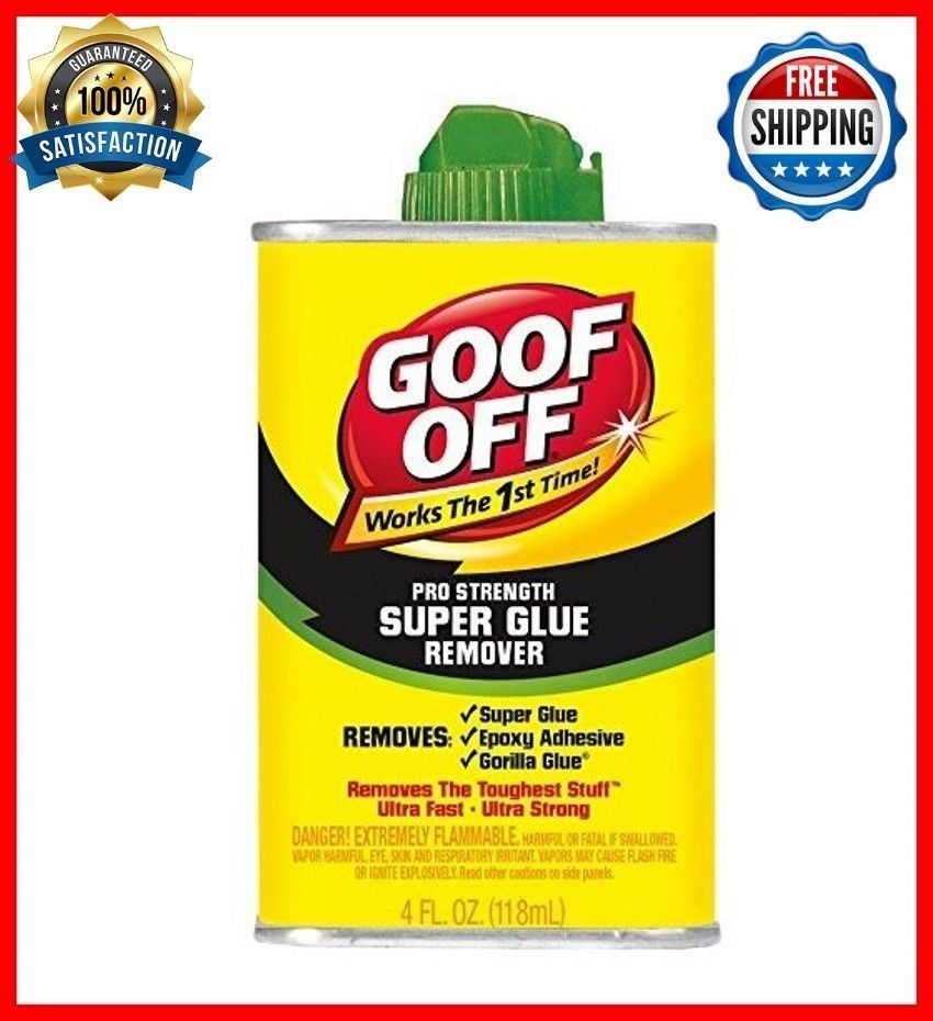 Goof Off Fg677 Super Glue Remover 4 Ounce Super Glue Exoxy Guerilla Toolbox 4 Oz Goofoff Super Glue Remove Super Glue How To Remove