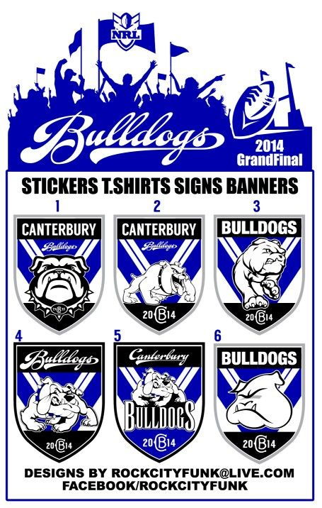 df52f9d09af Canterbury bulldogs logo stickers