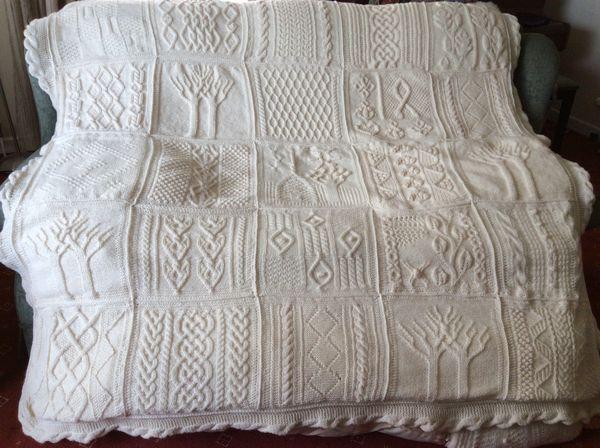 Tree Of Life Knitting Pattern : version of Tree of Life/Great American Aran Afghan ...
