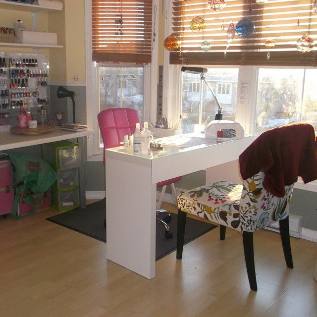 home nail salon decorating ideas nail technician room nail station nail room - Nails Salon Design Ideas