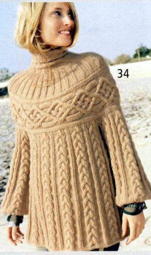 María Cielo: Sweaters con trenzas | Preciosos puntos | Pinterest ...