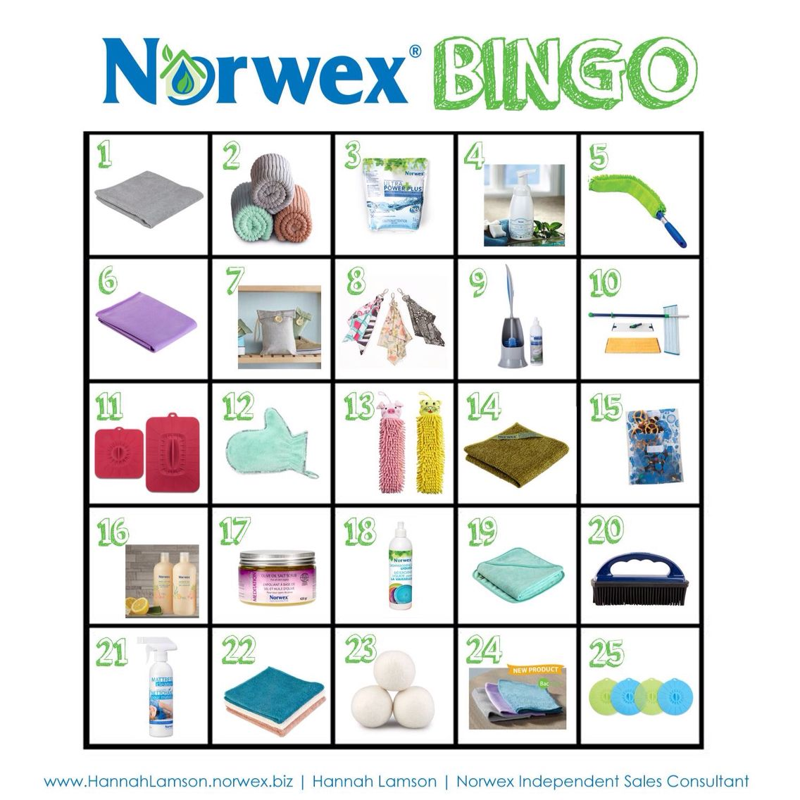 Norwex bingo for parties Norwex, Norwex party, Norwex
