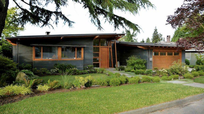 Love Grey And Wood Mid Century Modern Curb Appeal In