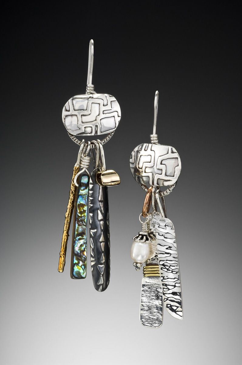 Desert Chimes No1 Earrings on Wire by Richard Lindsay Designs