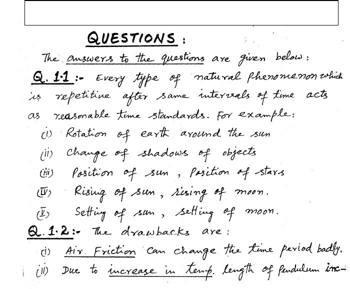 FSc First Year Physics Chapter No  1 (Measurements) Theory Notes