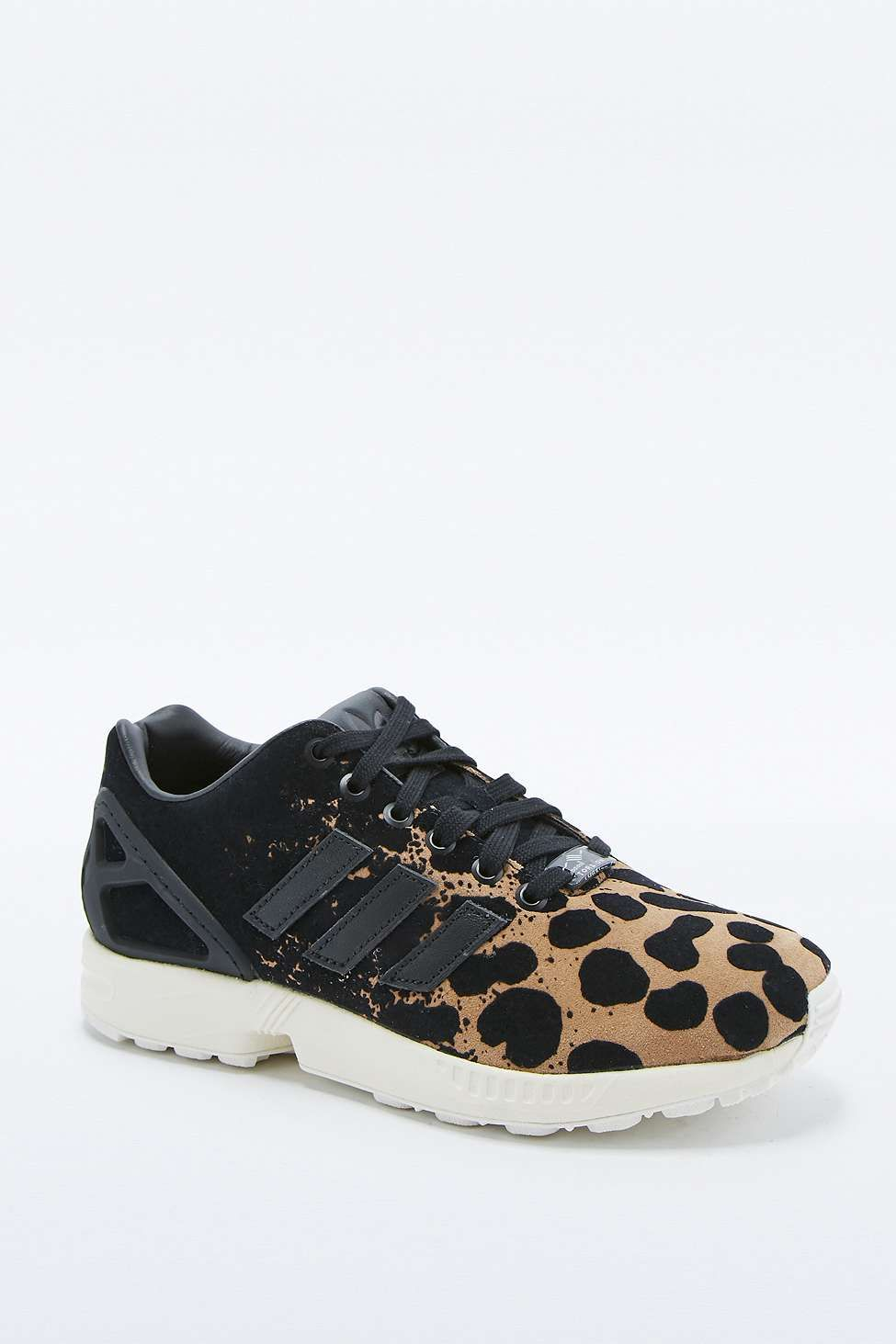 adidas ZX Flux Leopard Trainers | Adidas zx flux leopard
