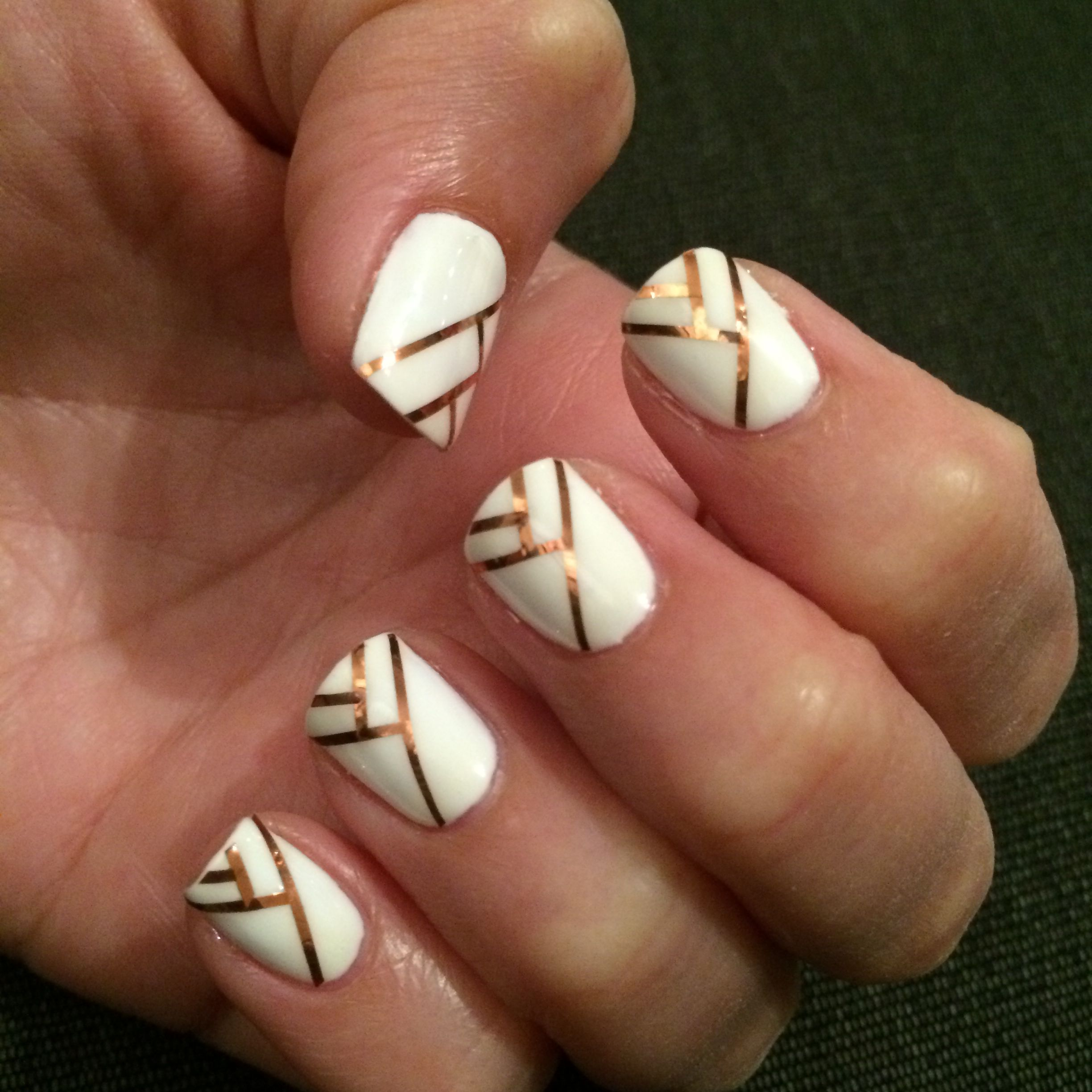 Striping tape nail design | Nails | Pinterest | Tape nail designs ...