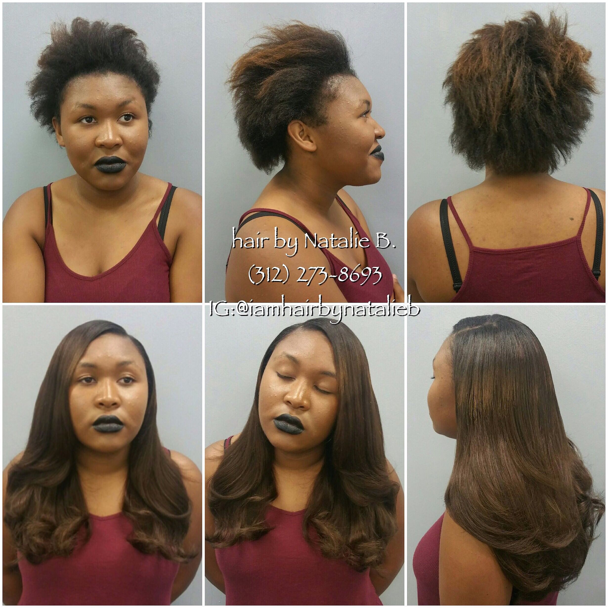 Traditional Sew In Hair Weave by Natalie B TEXT 312 273 8693