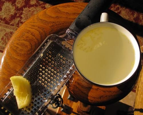 Hot buttered lemonade    Ingredients • 3 cups water • 3/4 cup fresh lemon juice • 2/3 cup sugar • 1 1/2 teaspoons grated lemon peel • 1 tablespoon butter or margarine • 4 cinnamon sticks (optional)