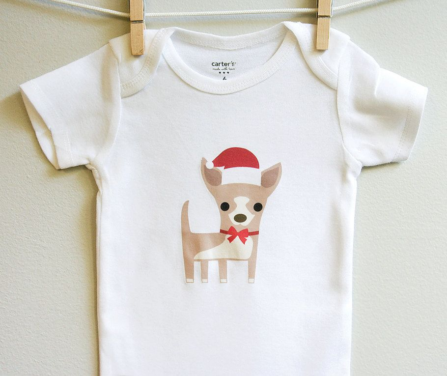 Christmas Baby Clothes Chihuahua Christmas Baby Bodysuit Baby Boy
