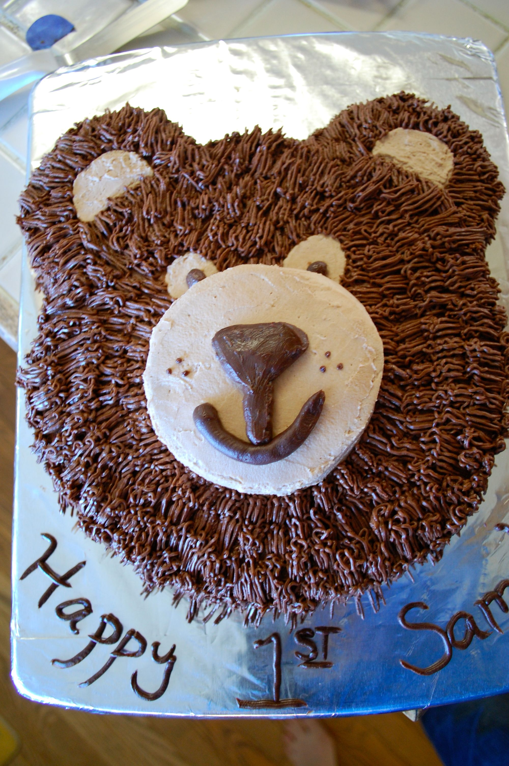 Bear Birthday Cake I Would Like This Please Birthday Parties - Bear birthday cake