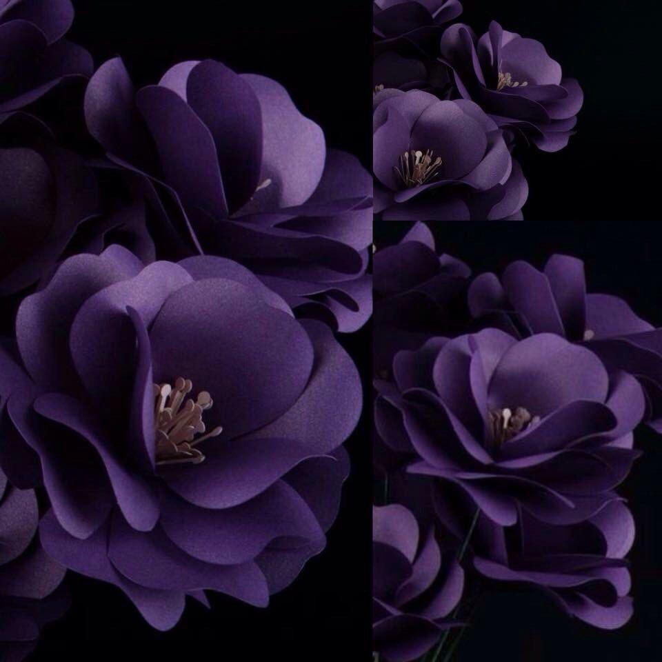 Unique Purple Paper Flowers Paper Flower Centerpiece Wedding