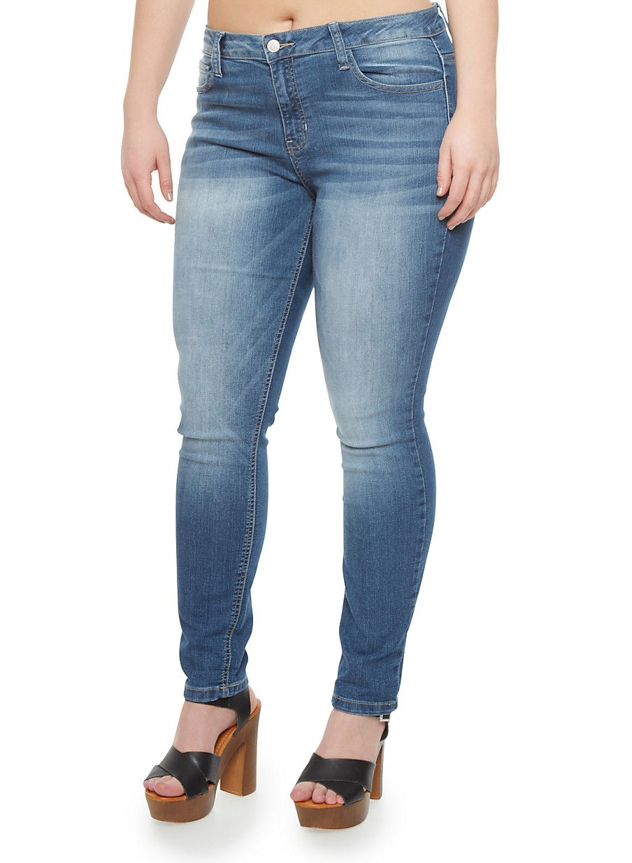 348afb03257 Plus Size WAX Jeans In Classic Skinny Fit