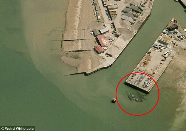 Can you see it? I'm sure it's altered - but hilarious giant crab!
