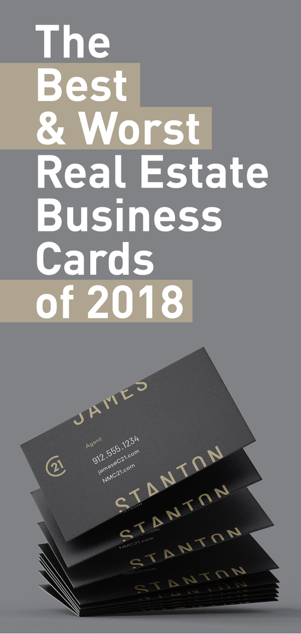 The Best Worst Real Estate Business Cards Of 2021 The Close Real Estate Business Cards Realtor Business Cards Real Estate Business