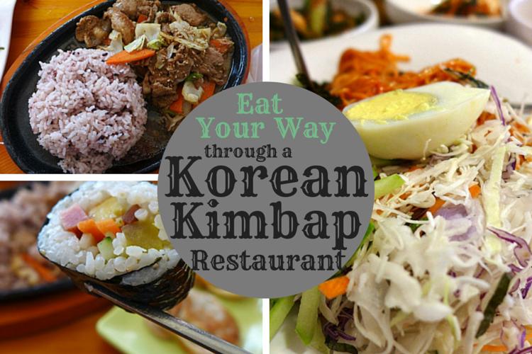 Eat Your Way Through A Korean Kimbap Restaurant Fast Healthy Meals Korean Kimbap Kimbap
