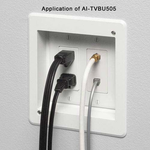 Flush Mount Your Tv To The Wall With Recessed Multiple Gang Tv Box For Power And Low Voltage Wall Mounted Tv Tv Wall Mount Bedroom Tv Wall