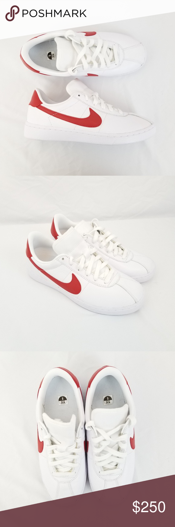 Nike Bruin Red Marty McFly 826670 160 Sz 6 White Brand new