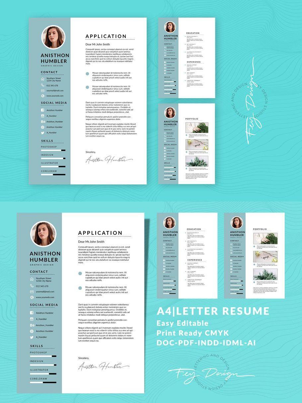 A4Letter CV Resume Templates Vol 02 Resume templates