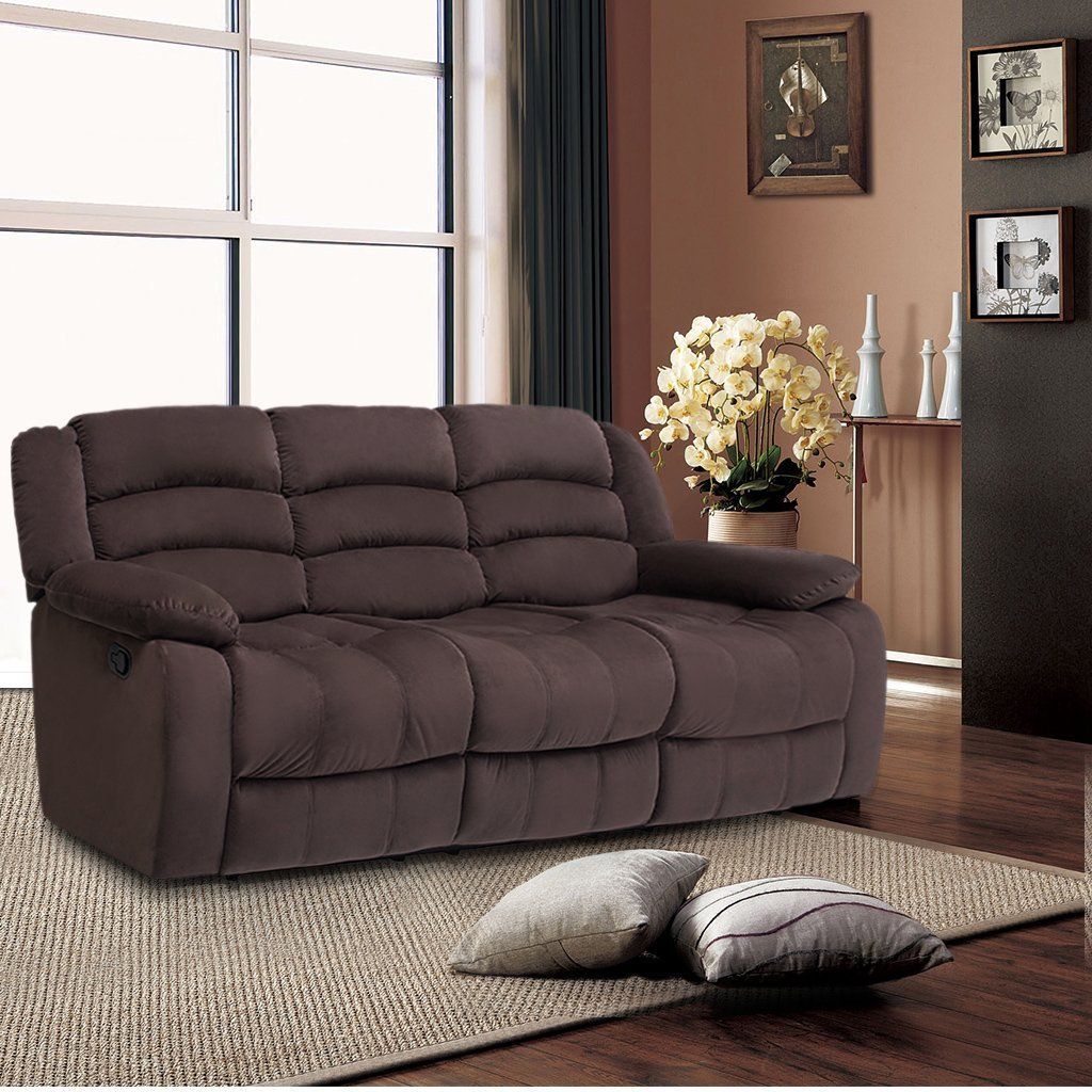 Amazon.com: LANGRIA 3 Seat Reclinable Sofa And Reclining Loveseat With  Recliner Chair